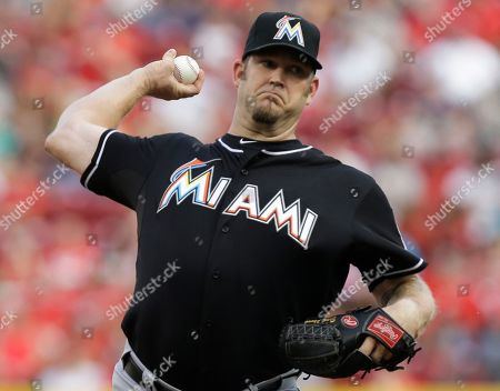 Brad Penny Miami Marlins starting pitcher Brad Penny throws against the Cincinnati Reds in the first inning of a baseball game, in Cincinnati