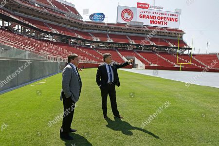 Miguel Herrera, Hector González Iñárritu Mexico soccer head coach Miguel Herrera, left, and team director Hector González Iñárritu walk on the field of Levi's Stadium following a media conference, in Santa Clara, Calif. Herrera and Iñárritu spoke as a preview to Mexico's upcoming match against Chile on Saturday, September 6, at Levi's Stadium