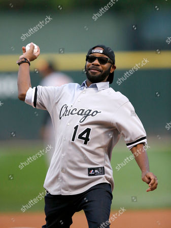 Nelsan Ellis Actor Nelsan Ellis throws out a ceremonial first pitch before of a baseball game between the Chicago White Sox and the Baltimore Orioles, in Chicago