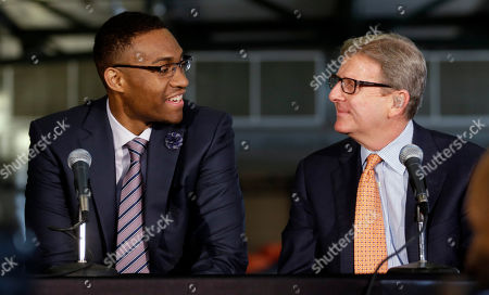 Jabari Parker, John Hammond Milwaukee Bucks general manager John Hammond talks to first round draft pick Jabari Parker at a news conference, in Milwaukee