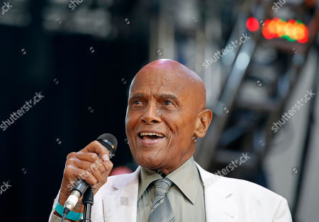 Harry Belfonte Singer and activist Harry Belafonte speaks during a memorial tribute concert for folk icon and civil rights activist Pete Seeger at Lincoln Center's Damrosch Park in New York, . Seeger died at age 94 in January