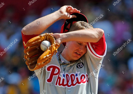 David Buchanan Philadelphia Phillies starting pitcher David Buchanan wipes his brow after giving up a two-run home run to Pittsburgh Pirates' Andrew McCutchen during the first inning of a baseball game in Pittsburgh on