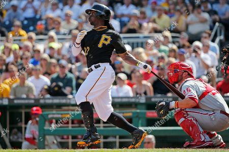 Andrew McCutchen Pittsburgh Pirates' Andrew McCutchen hits a two-run home run off Philadelphia Phillies starting pitcher David Buchanan during the first inning of a baseball game in Pittsburgh