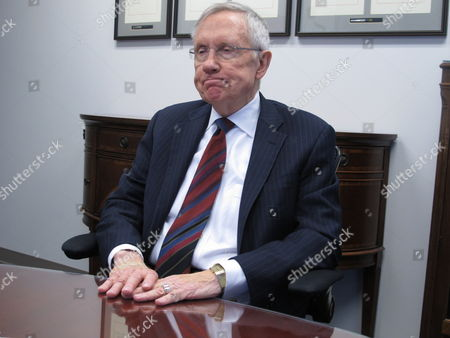 Stock Picture of Senate Majority Leader Harry Reid, D-Nev., talks to reporters in his Reno, Nev. office on . He said he doesn't intend to waste his time raising money for Democrat Bob Goodman in an unlikely bid to unseat popular Republican Gov. Brian Sandoval in November
