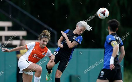Cami Levin, Jessica Fishlock Sky Blue FC's Cami Levin, left, and Seattle Reign FC's Jessica Fishlock vie for the ball during the second half of an NWSL soccer game, in Seattle