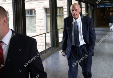 Stock Picture of Jesse Ventura Former Minnesota Gov. Jesse Ventura returns from lunch to the federal courthouse in St. Paul, Minn., the first day of a trial in a lawsuit Ventura filed against the estate of the late former Navy SEAL Chris Kyle. Ventura filed the defamation lawsuit claiming that Kyle's account of a bar fight in a book he wrote was false
