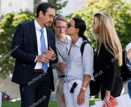Tim Wu, Nona Farahnik,Kate Farley Tim Wu, a candidate for New York lieutenant governor, talks with senior adviser Nona Farahnik, center, and senior press aide Kate Farley, right,, in Albany, N.Y