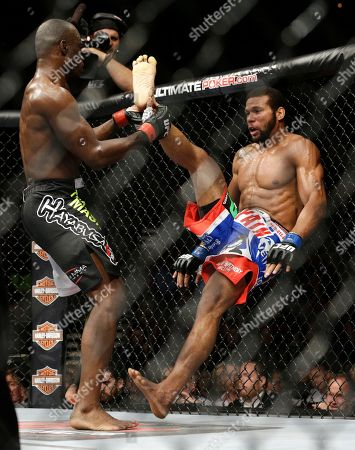 Thiago Santos Uriah Hall, left, takes down Thiago Santos during their middleweight mixed martial arts bout at UFC 175, in Las Vegas