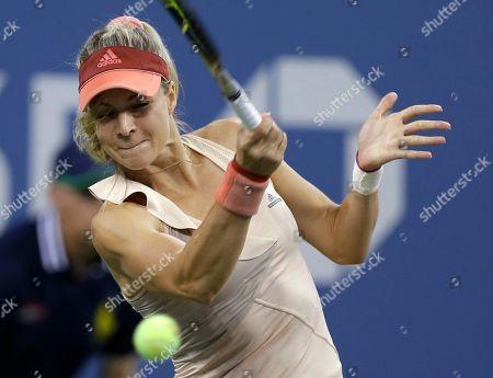 Maria Kirilenko Maria Kirilenko, of Russia, returns a shot to Maria Sharapova, of Russia, during the opening round of the U.S. Open tennis tournament, in New York