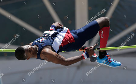 Nick Ross Nick Ross clears the bar at 7 feet, 5 3/4 inches inches to take second place in the men's high jump at the U.S. outdoor track and field championships, in Sacramento, Calif