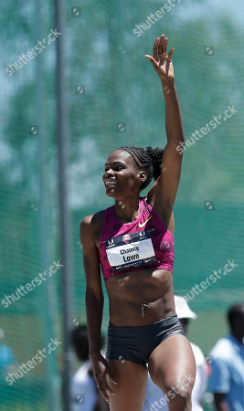 Chaunte Lowe Chaunte Lowe waves to the crowd after placing second in the women's high jump on her way to second place at the U.S. outdoor track and field championships, in Sacramento, Calif