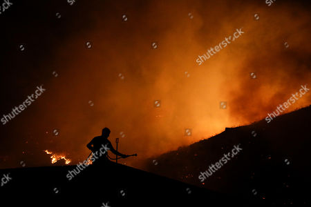 Editorial photo of California Wildfires, San Marcos, USA