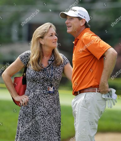 John Inman, Patti Inman John Inman, right, talks with his wife Patti Inman after hitting a tee shot on the third hole during the second round of the Encompass Championship golf tournament in Glenview, Ill