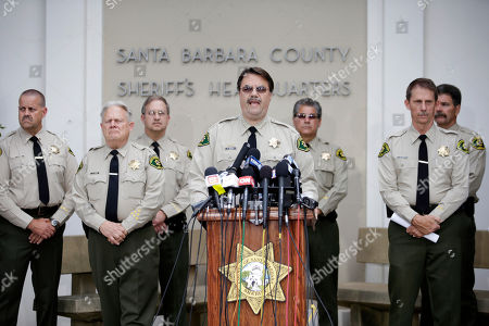 Bill Brown Santa Barbara County Sheriff Bill Brown, center, speaks during a news conference, in Santa Barbara, Calif. Sheriff's officials say Elliot Rodger, 22, went on a rampage near the University of California, Santa Barbara, stabbing three people to death at his apartment before shooting and killing three more in a crime spree through a nearby neighborhood