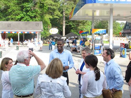 Democratic candidate for lieutenant governor state Rep. Bakari Sellers campaigns at the Galivants Ferry Stump, in Galivants Ferry, S.C. Democratic candidates have been coming to the stump since the 1870s, but they are all underdogs this year in South Carolina