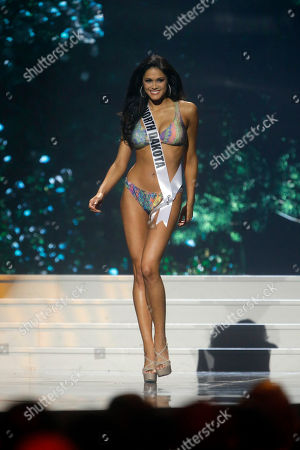 Audra Mari Miss North Dakota USA Audra Mari participates in the swimsuit competition during the 2014 Miss USA preliminary competition in Baton Rouge, La
