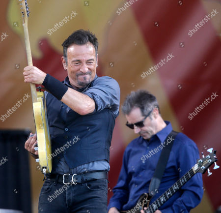 Bruce Springsteen, Garry Tallent Bruce Springsteen performs with bassist Garry Tallent, background, at the New Orleans Jazz and Heritage Festival in New Orleans