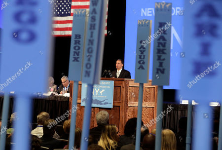 David Paterson Former New York Gov. David Paterson delivers his address to the opening session of the state's Democratic Convention, in Melville, N.Y., . Paterson will be the new chairman of the New York State Democratic Party
