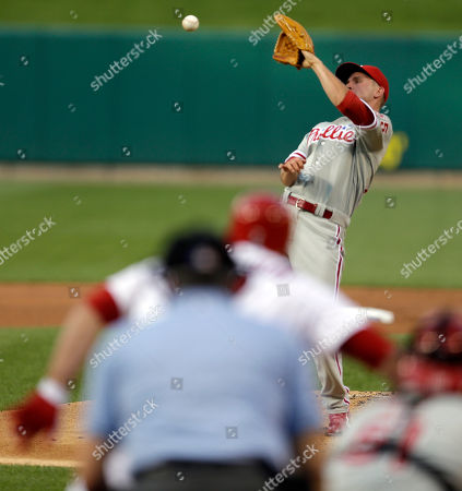 David Buchanan Philadelphia Phillies starting pitcher David Buchanan cannot catch a line drive hit back to him by St. Louis Cardinals' Matt Holliday during the first inning of a baseball game, in St. Louis. Holliday was thrown out at first by Phillies shortstop Jimmy Rollins on the play
