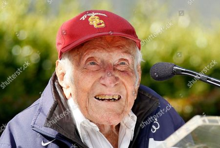 Louis Zamperini Louis Zamperini talks during a news conference in Pasadena, Calif. Zamperini, a former Olympian and World War II hero who died shortly after being named grand marshal of the 2015 Rose Parade, will be represented by his family at the annual New Year's celebration in Pasadena