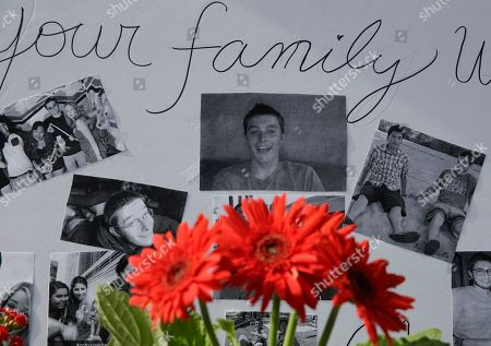 Christopher Martinez Images of Christopher Martinez are displayed as part of a memorial in front of the IV Deli Mart, front of IV Deli Mart, where part of a mass shooting took place by Elliot Rodger in Isla Vista, Calif., . Sheriff's officials say Rodger, 22, went on a rampage near the University of California, Santa Barbara, stabbing three people to death at his apartment before shooting and killing three more in a crime spree through a nearby neighborhood. In the wake of Roger's shooting spree, legislation introduced by state Sen. Hannah-Beth Jackson would require law enforcement to check state firearms records as part of routine welfare checks, Wednesday, June 11, 2014