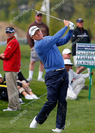 Roger Chapman Roger Chapman hits a fairway shot on the 3rd hole during the first round of the 75th Senior PGA Championship golf tournament at the Harbor Shores Golf Club in Benton Harbor, Mich