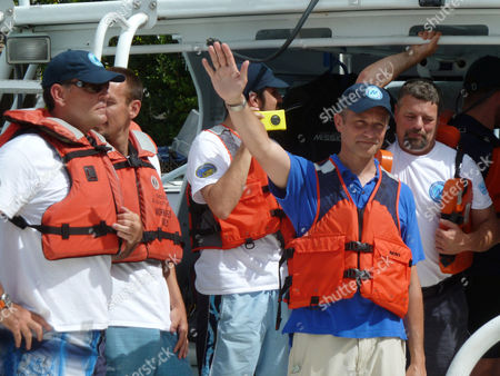 Fabien Cousteau Fabien Cousteau waves,, from the boat ferrying him from Florida International University's Medina Aquarius Program headquarters in Islamorada, Fla., to the waters above Aquarius Reef Base in the Florida Keys National Marine Sanctuary. Cousteau plans to spend 31 days underwater at Aquarius, leading a team of researchers and making a documentary