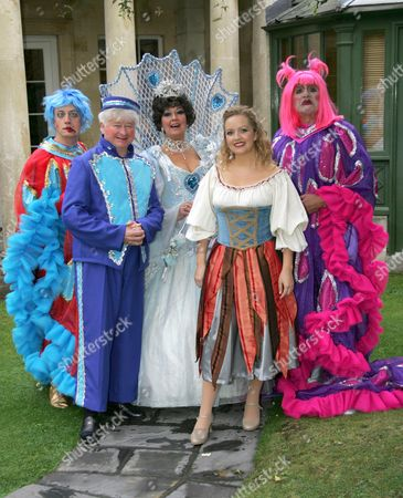 Chris Harris stars as Buttons alongside Mark Buffery and Jon Monie as the Ugly Sisters with Ruth Madoc who stars as the Fairy Godmother and Gillian Budd as Cinderella.