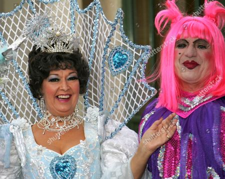Ruth Madoc who stars as the Fairy Godmother and Jon Monie one of the Ugly Sisters