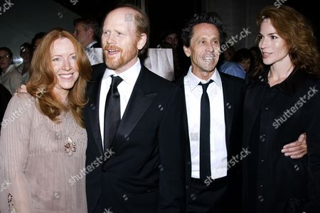 Ron Howard and wife Cheryl, Brian Grazer with wife Gigi Levangie
