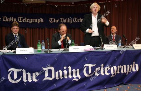 Greg Clark, Charles Moore, Boris Johnson and Daniel Hannan