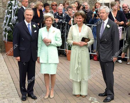 Archduke Christian von Habsburg, Archduchess Marie Astrid von Habsburg, Prince Nikolaus and Princess Margaretha