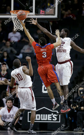 Langston Galloway, Papa Ndao, Kyle Davis Saint Joseph's Langston Galloway, left, and Papa Ndao, right, defended Dayton's Kyle Davis during the first half of an NCAA college basketball game in the quarterfinal round of the Atlantic 10 Conference tournament at the Barclays Center in New York