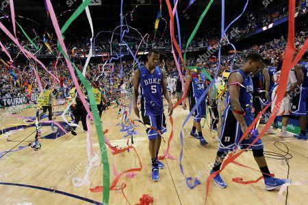 Editorial picture of ACC Duke Virginia Basketball, Greensboro, USA