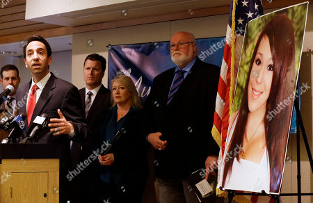 Sheila Pott, Jim Beall, Jeff Rosen, Robert Allard From left, Santa Clara County District Attorney Jeff Rosen talks about the provisions of Audrie's Law as Attorney Robert Allard, Sheila Pott, mother of Audrie Pott, and State Sen. Jim Beall, D-San Jose, listen in, in Saratoga, Calif. Audrie's Law is a legislative proposal aimed at deterring the bullying, cyberbullying, and sexual assault that played roles in the suicide of Audrie Pott, a 15-year-old Saratoga High School student
