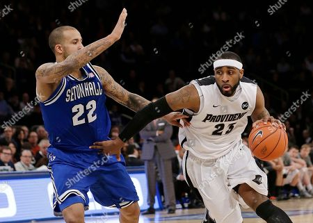 LaDontae Henton Providence's LaDontae Henton (23) drives past Seton Hall's Brian Oliver (22) during the first half of an NCAA college basketball game in the semifinals of the Big East Conference men's tournament, at Madison Square Garden in New York