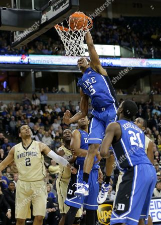Rodney Hood Duke's Rodney Hood (5) tries to dunk against Wake Forest during the second half of an NCAA college basketball game in Winston-Salem, N.C., . Wake Forest won 82-72
