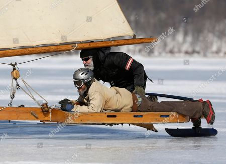 Editorial photo of Ice Sailing, Barrytown, USA
