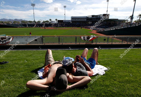 Editorial image of Indians Reds Spring Baseball, Goodyear, USA