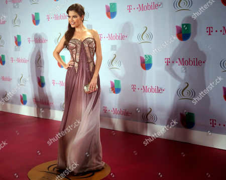 Stock Photo of Ana Patricia Gonzalez Ana Patricia Gonzalez walks the red carpet and poses for photos before the Premio Lo Nuestro Latin Music Awards show in Miami