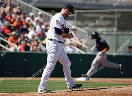 Editorial image of Red Sox Twins Spring Baseball, Fort Myers, USA