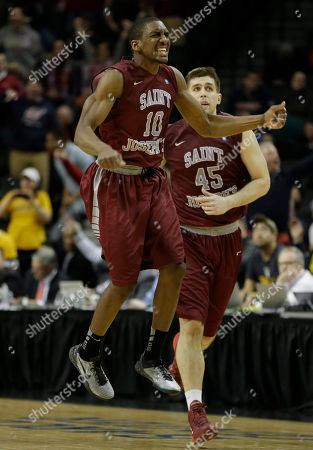 Langston Galloway, Halil Kanacevic Saint Joseph's Langston Galloway, left, celebrates after a three-point basket while Halil Kanacevic looks on during the second half of an NCAA college basketball game in the championship round of the Atlantic 10 Conference tournament at the Barclays Center in New York, . St. Joseph's defeated VCU 65-61
