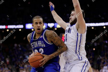 Brian Oliver, Ethan Wragge Seton Hall's Brian Oliver (22) is guared by Creighton's Ethan Wragge, right, in the first half of an NCAA college basketball game in Omaha, Neb