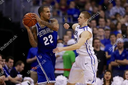 Brian Oliver, Isaiah Zierden Creighton's Isaiah Zierden, right, guards Seton Hall's Brian Oliver (22) in the second half of an NCAA college basketball game in Omaha, Neb., . Creighton won 72-71