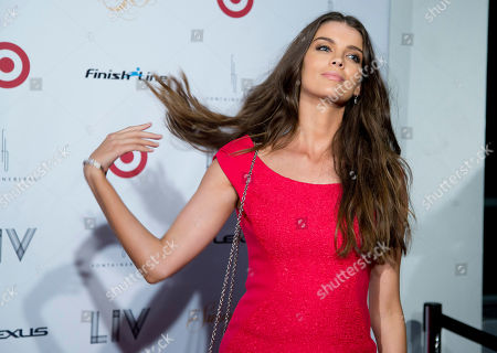 Natasha Barnard Swimsuit model Natasha Barnard poses for photos in Miami Beach, Fla. Several 2014 Sports Illustrated Swimsuit models walked the red carpet in Miami Beach to celebrate the 50th Anniversary of the Sports Illustrated Swimsuit issue