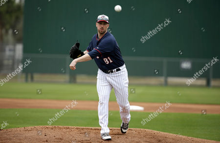 Stock Picture of Matt Hoffman Minnesota Twins pitcher Matt Hoffman delivers a throw during spring training baseball practice, in Fort Myers, Fla