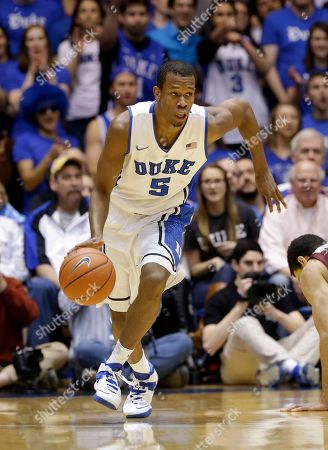 Rodney Hood Duke's Rodney Hood (5) dribbles against Virginia Tech during the first half of an NCAA college basketball game in Durham, N.C