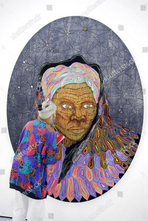An exhibition featuring new work from the Saatchi Gallery by 40 young American artists, with over 150 new works of art. Matthew Day Jackson - 'Harriet (Last Portrait)' 2006