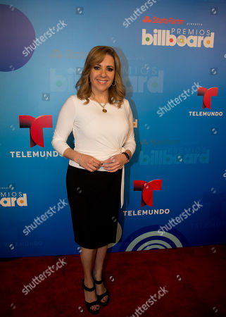 Ana Maria Canseco Telemundo television personalities Ana Maria Canseco poses on the red carpet after a news conference announcing the finalists for the Billboard Latin Music Awards, in Miami. The awards will air live on the Telemundo network April 24