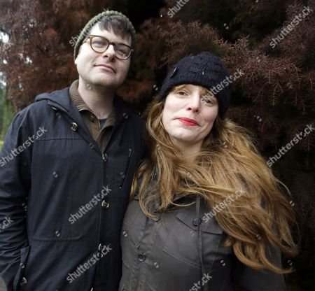"""Colin Meloy, Carson Ellis This photo shows Colin Meloy, left, front man and songwriter for the indie folk band, The Decemberists, and his illustrator wife, Carson Ellis, in Portland, Ore. The couple have just published the third installment of a popular adventure book series for middle-schoolers called the """"Wildwood Chronicles."""" The third volume is titled """"Wildwood Imperium"""